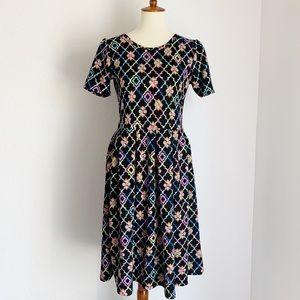 Lularoe Amelia dress arabesque pattern